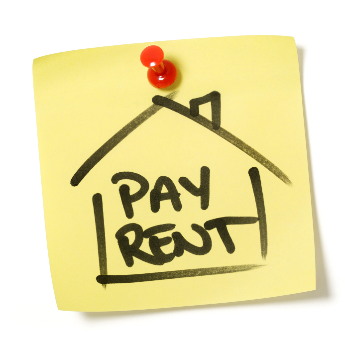 paying your rent