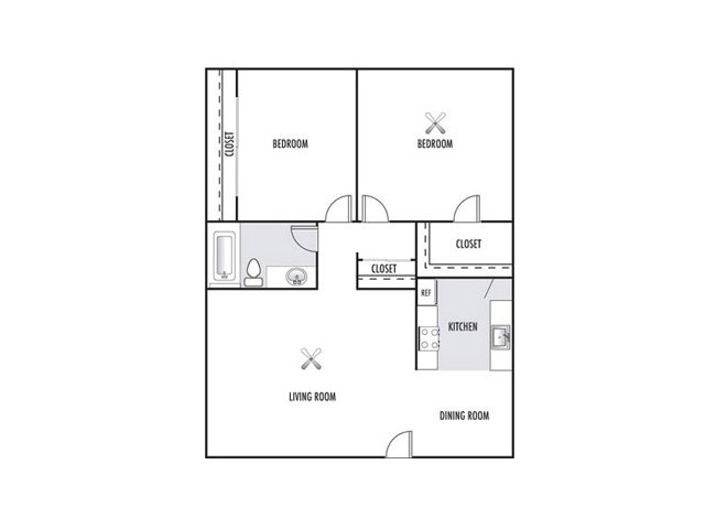 for the Two Bedroom One Bath floor plan. 2 Bed   1 Bath Apartment in Phoenix AZ   Sienna Springs