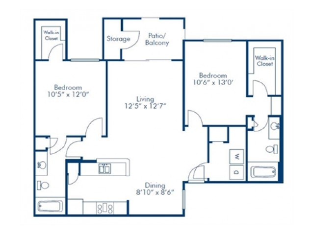 Solis at Towne Center Two Bedroom Two Bathroom