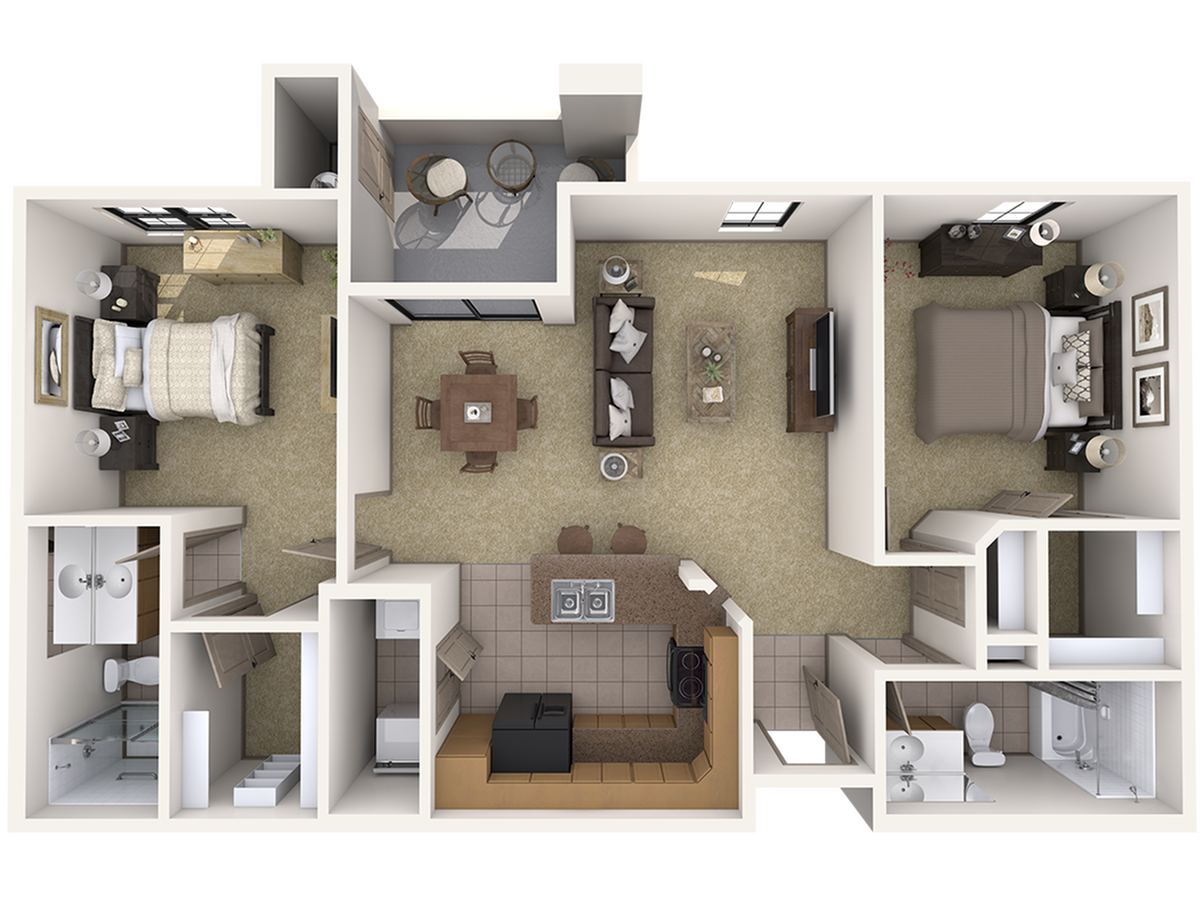 B2 Two Bedroom Apartment