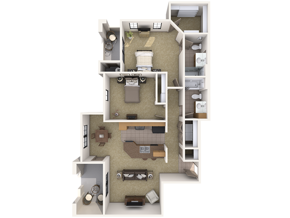 B1 Two Bedroom Apartment