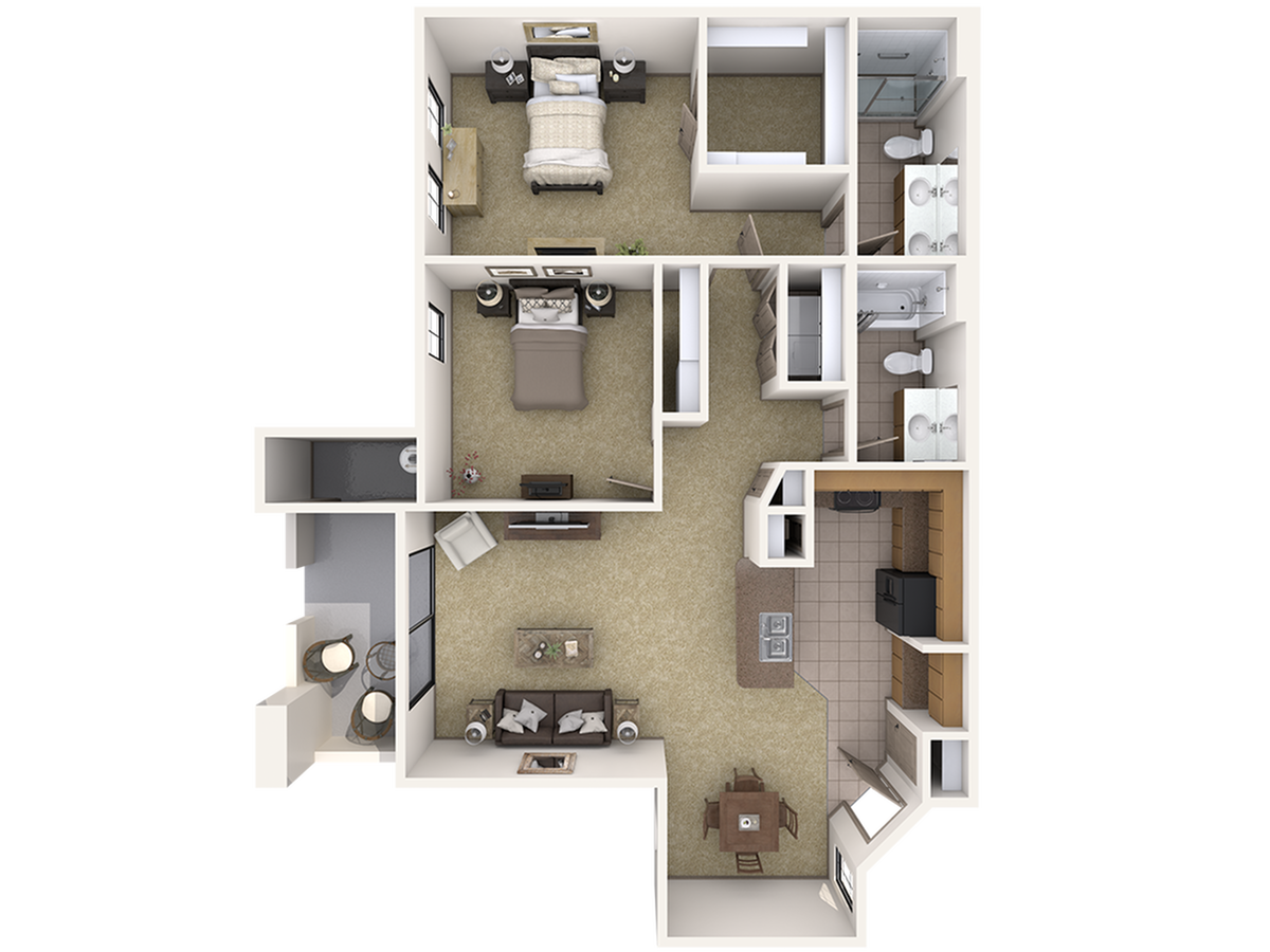 B Two Bedroom Apartment