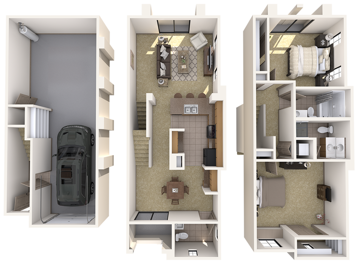 Townhome Two Bedroom