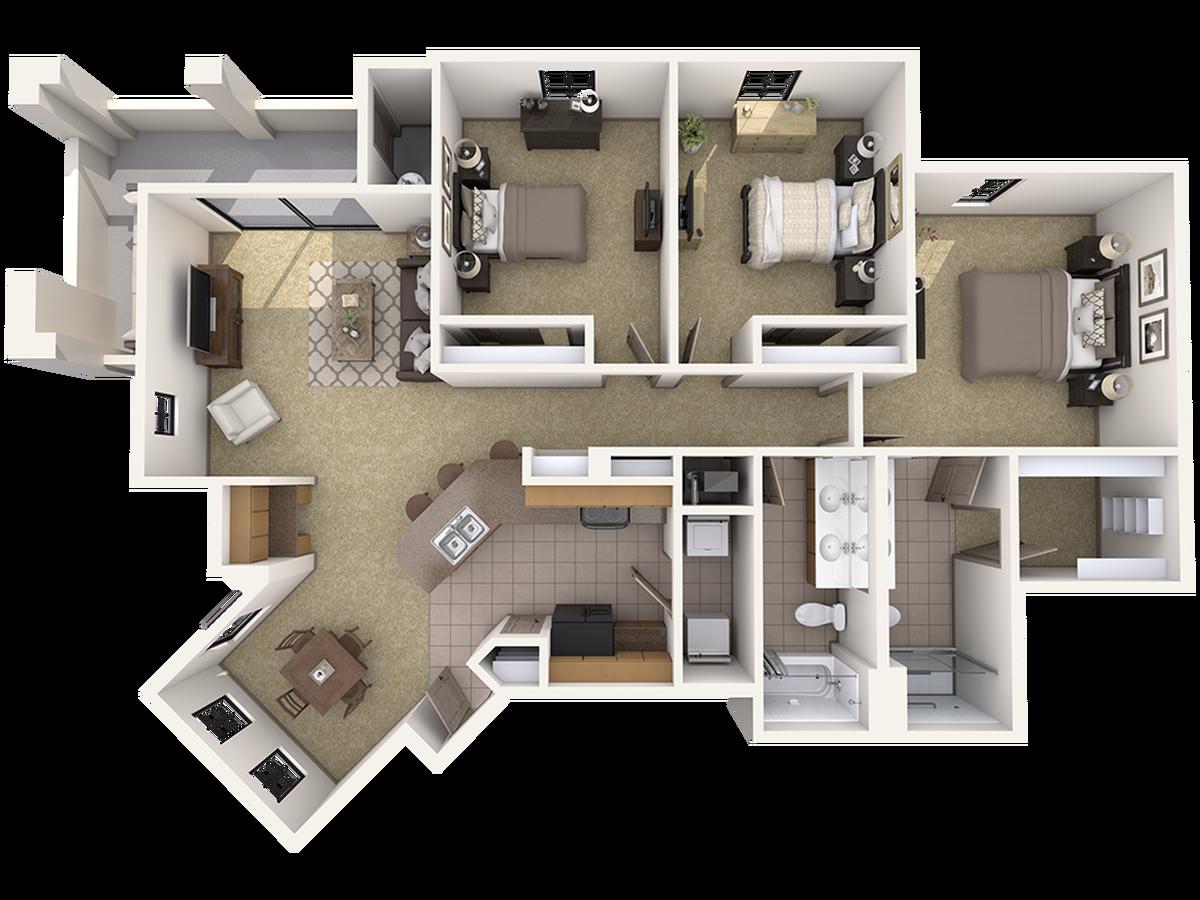 C Three Bedroom Apartment