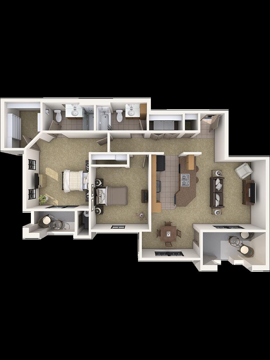 Casita Three Bedroom Apartment