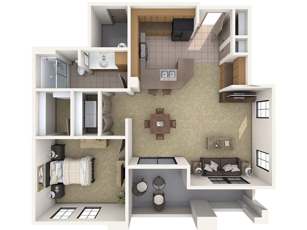 A1 One Bedroom Apartment