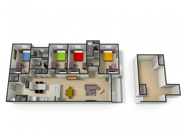 Spacious Floor Plans | WVU Apartments For Rent | The Lofts