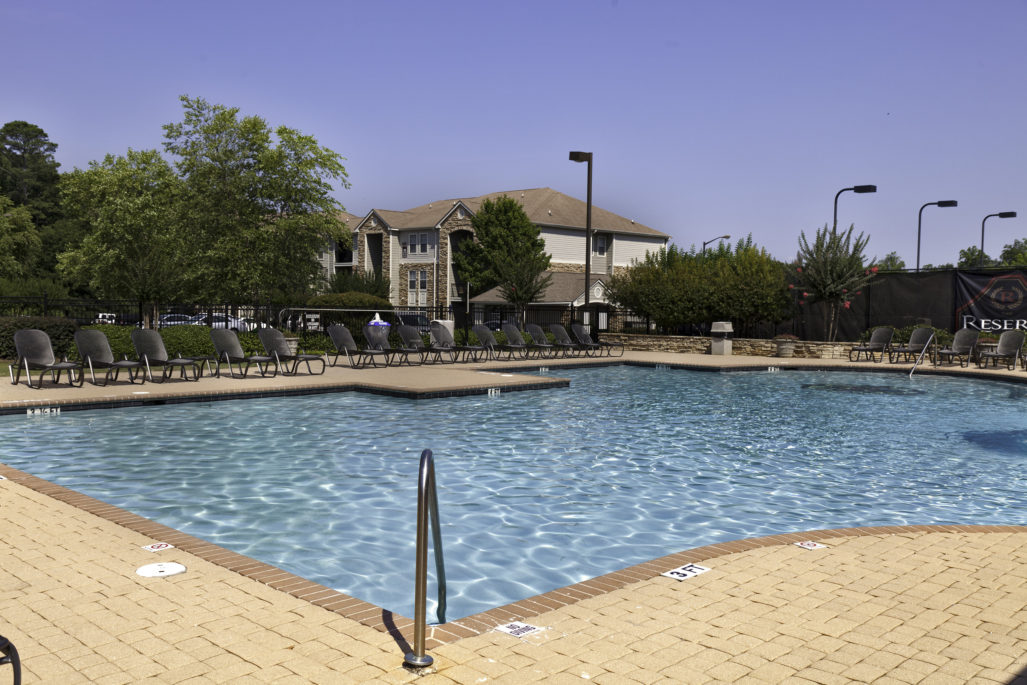 Outdoor resort style swimming pool at The Reserve at Athens