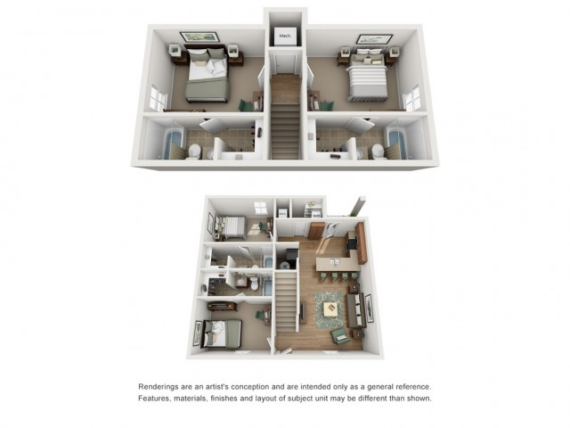 Floor Plan 2 | Apartments Near UNM Campus | Valley View Villas