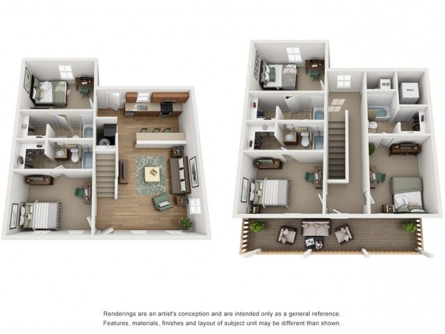 Floor Plan  5x5 Duplex  | Apartments Near UNM | The View ABQ
