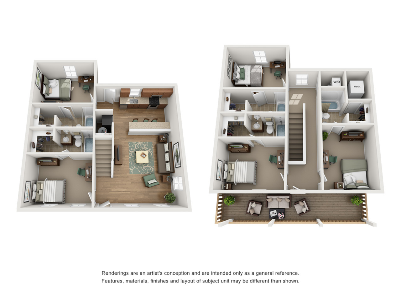 Floor Plan 3 | Apartments For Rent Near UNM | Valley View Villas