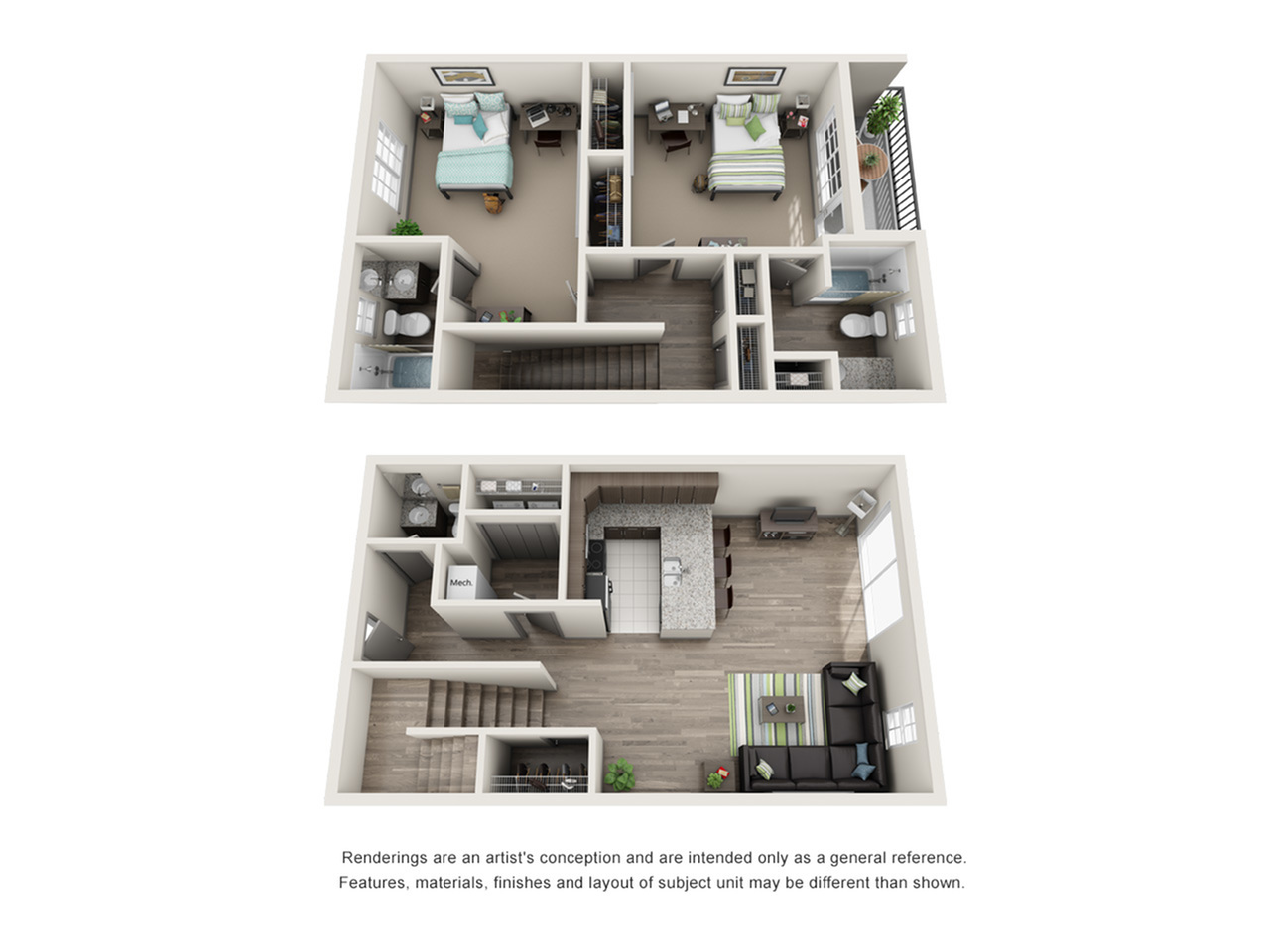 2 Bdrm Floor Plan Isu On Campus Apartments Smallwood Plaza