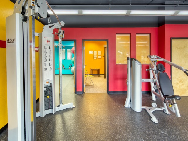Fitness Gym at South Duff Apartments in Ames, Iowa