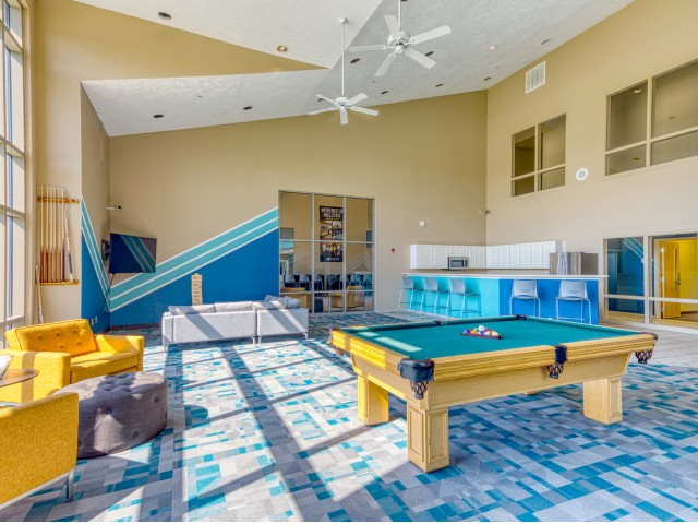 Game Room at The Haven apartments near BSU in Muncie.