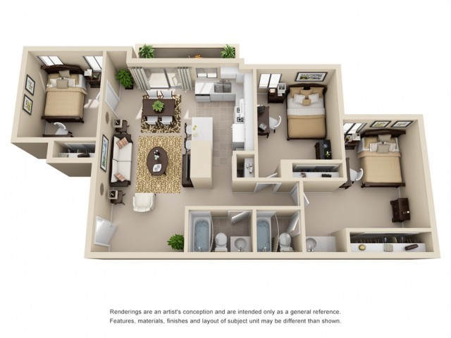 3 bedroom apartments riverside ca