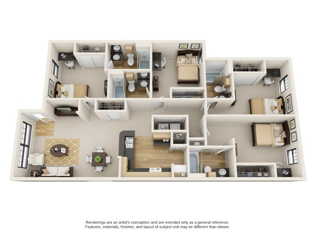 4 bedroom apartment baton rouge - 4 Bedroom Apartments