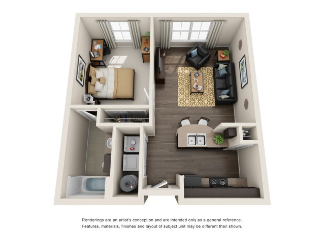 1 bedroom apartments in maryland
