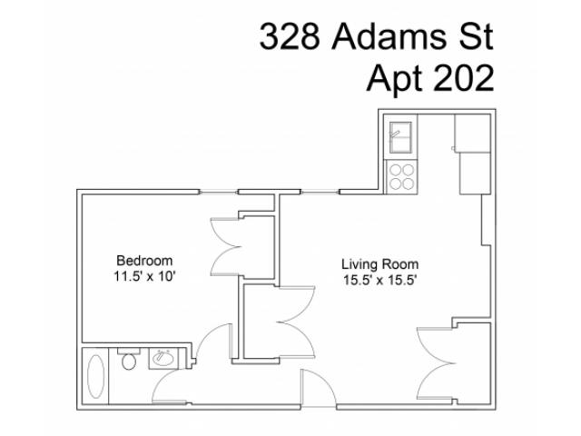 328 Adams Street #202 - Utilities include: Gas & Oil