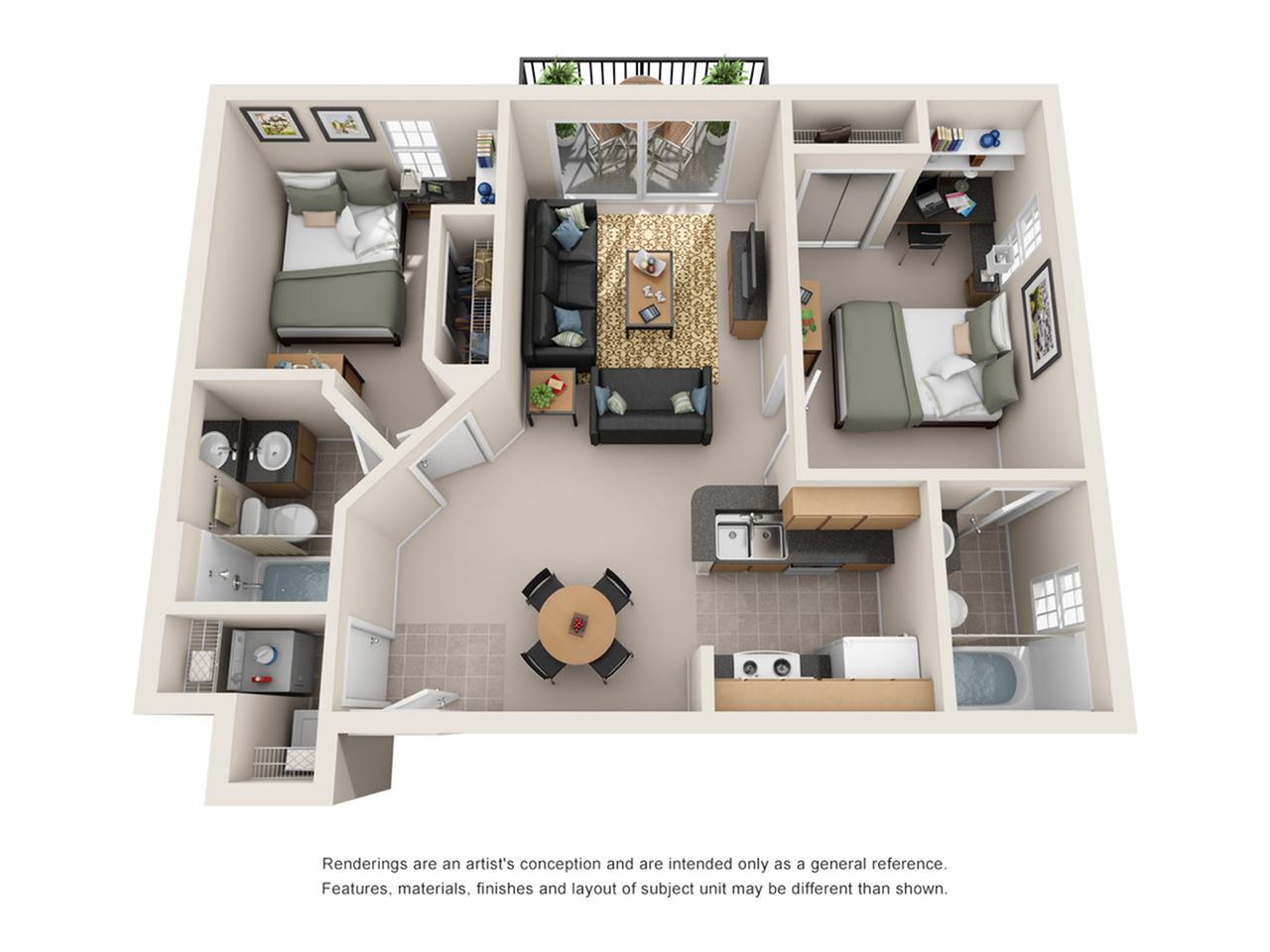 2 bedroom apartment in fort collins