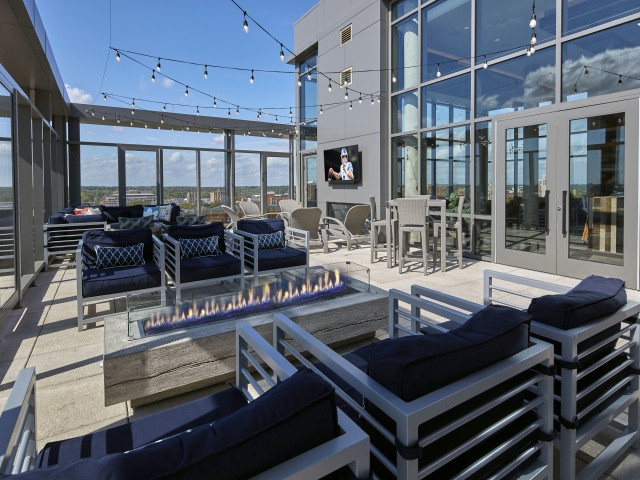 Image of Rooftop Terrace with Fire Pits and Grill Station for Six11