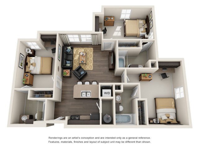 3 bedroom apartments for rent in md
