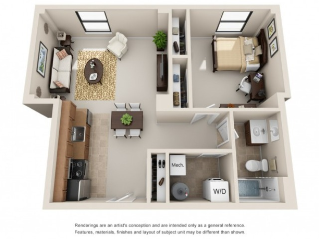 1 Bedroom | 1 Bathroom