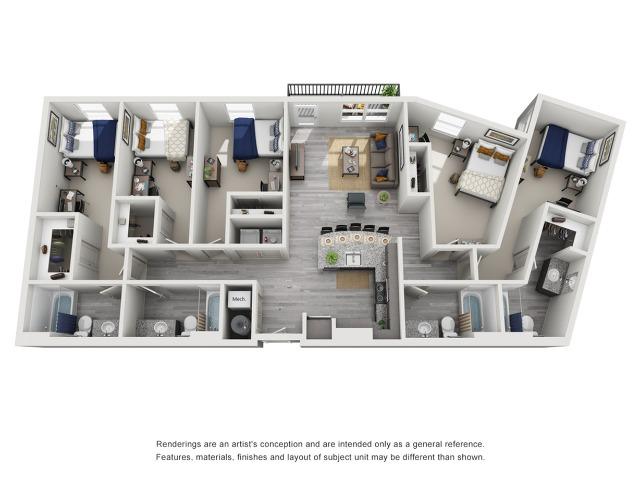 5 bedroom off campus housing clemson