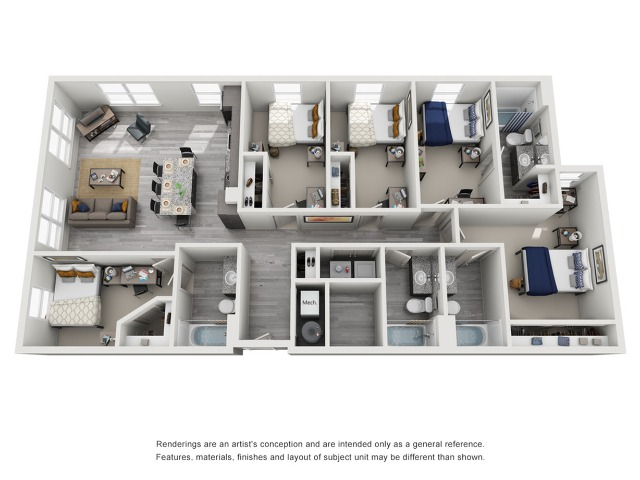 5 bedroom apartment near clemson university