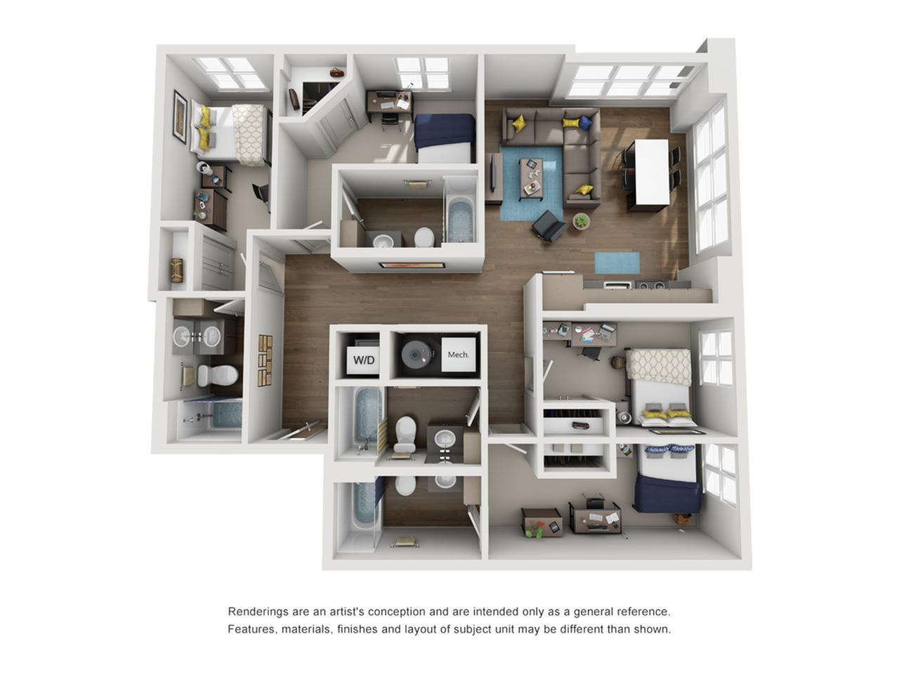 four bedroom apartment in ann arbor