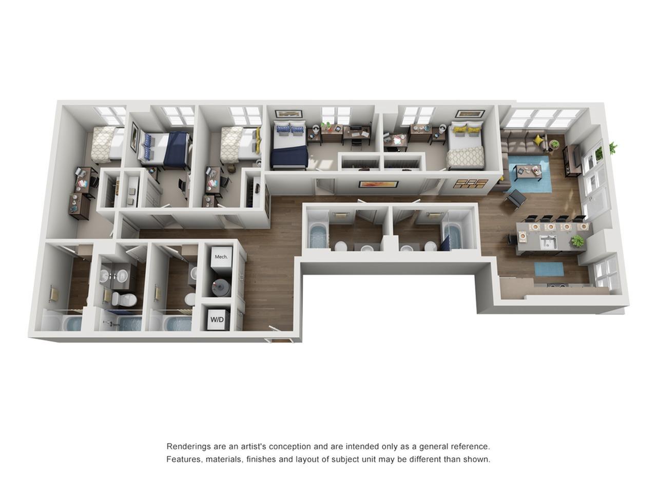 five bedroom apartment in ann arbor