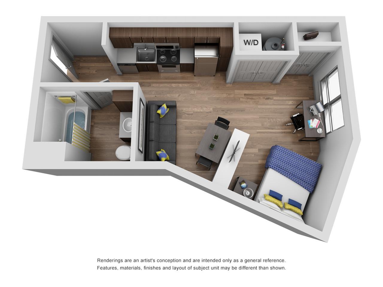 studio apartment in ann arbor