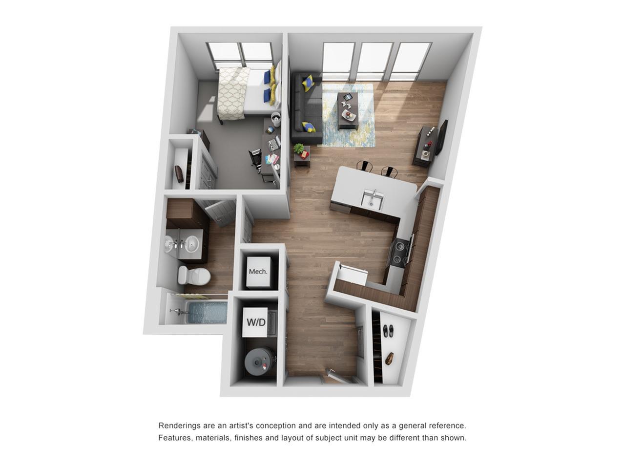 one bedroom apartment in ann arbor