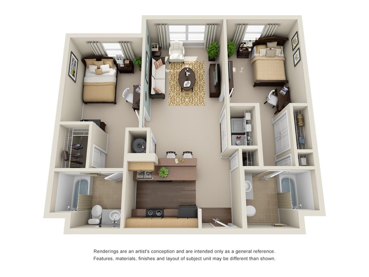 two bedroom apartment in atlanta