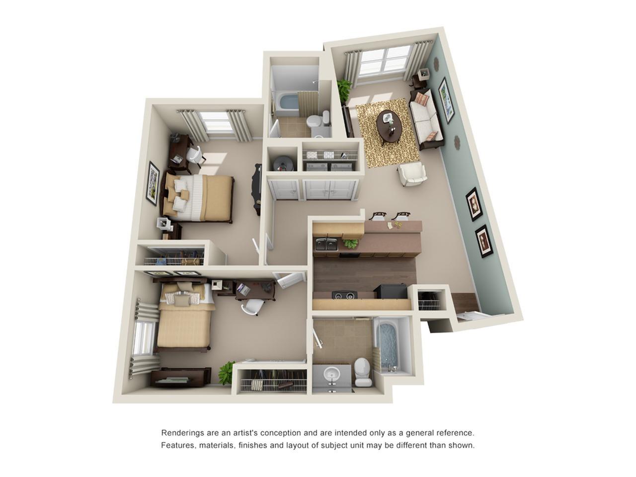 2 bedroom apartment atlanta