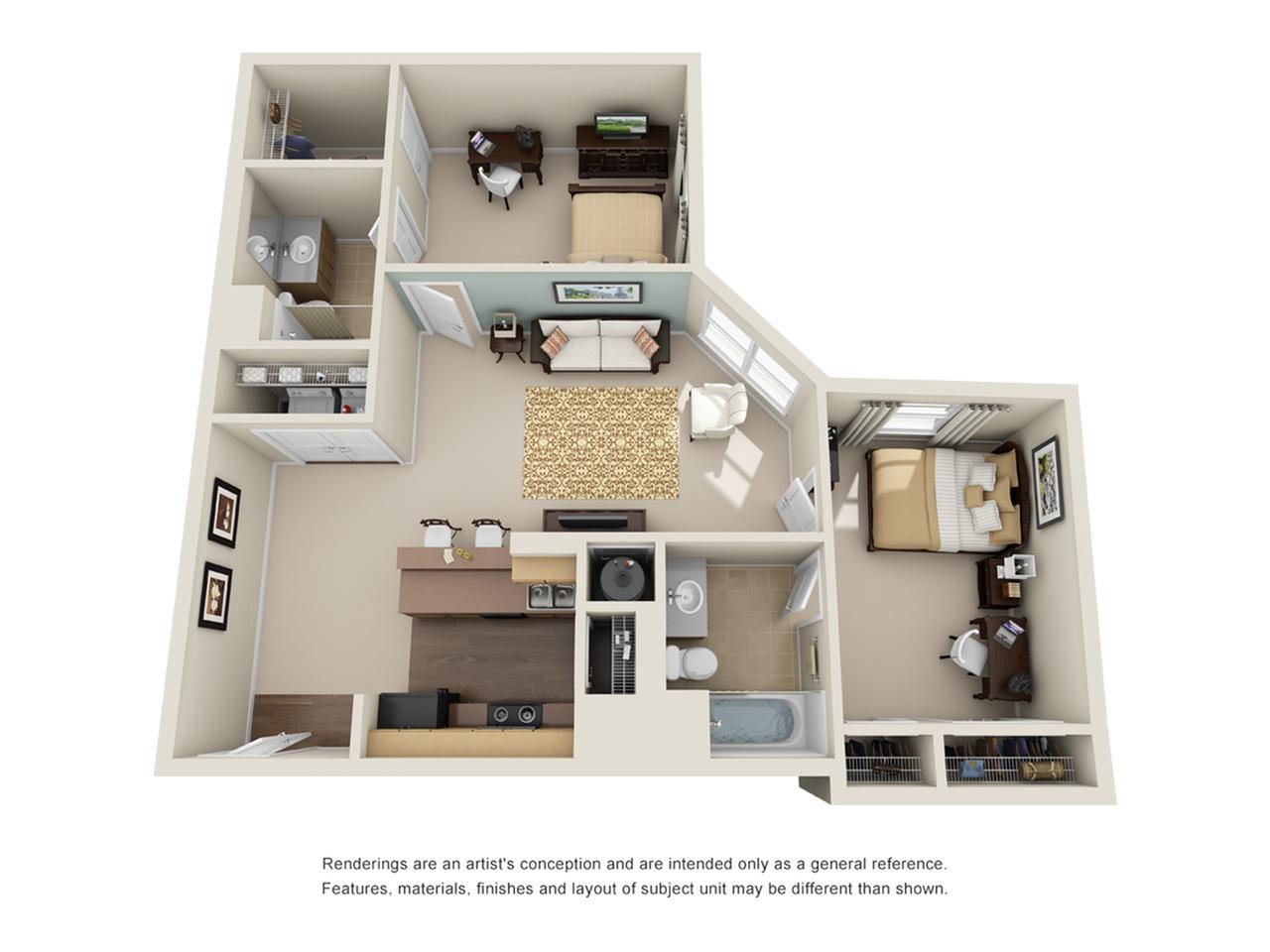 two bedroom apartment in atlanta ga