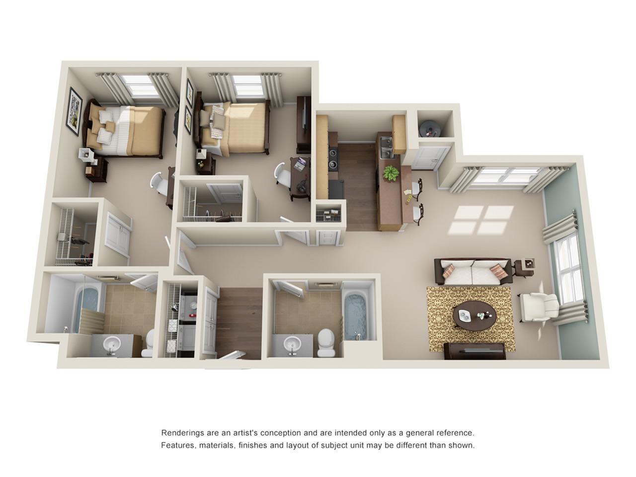 2 bedroom apartment in atlanta ga