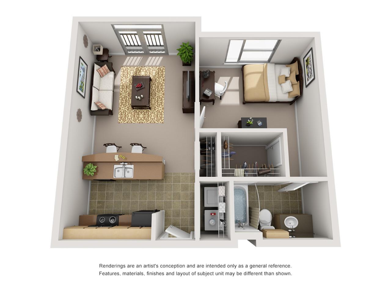 1 bedroom apartment baton rouge