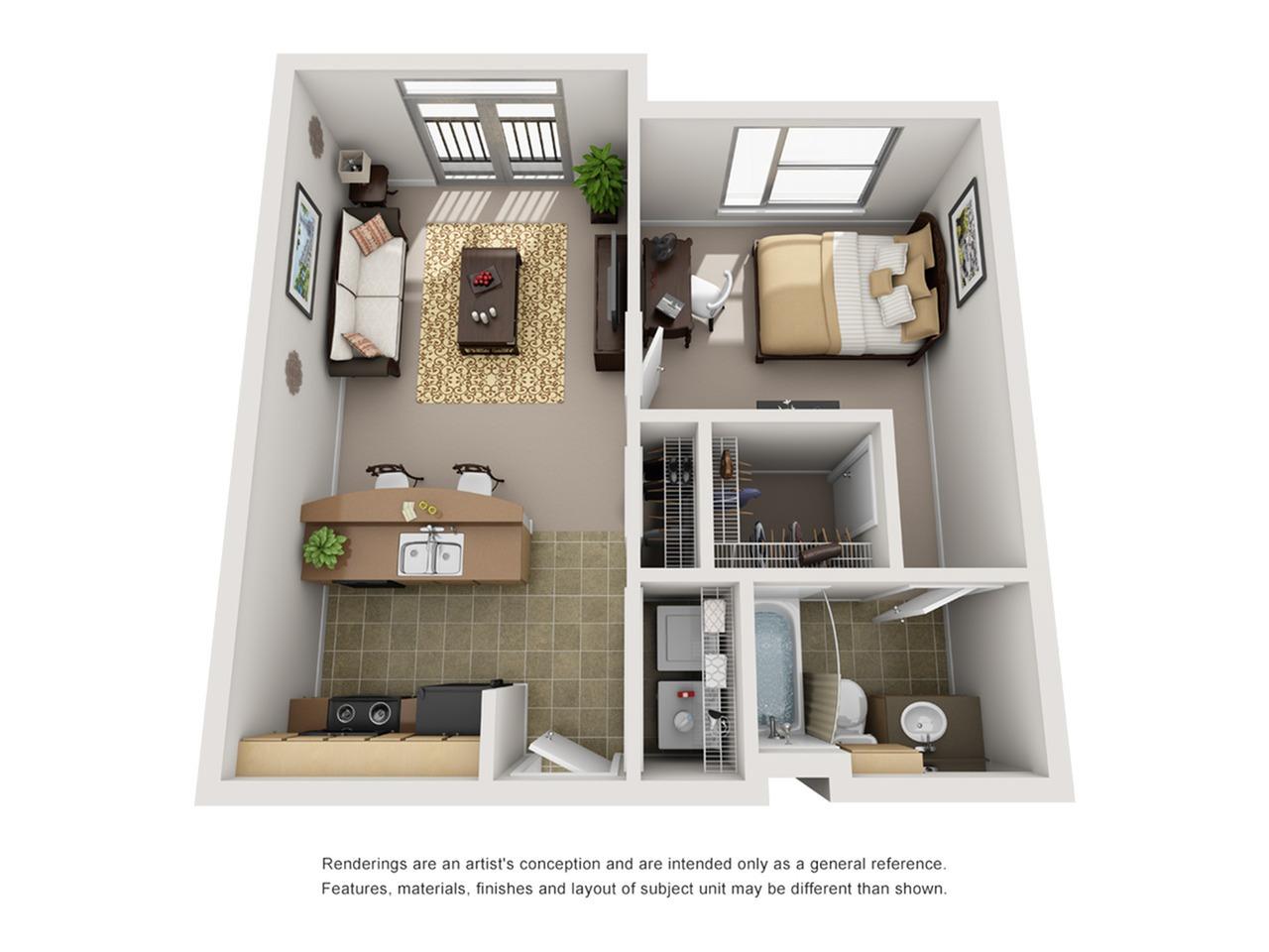 1 bedroom apartment in baton rouge