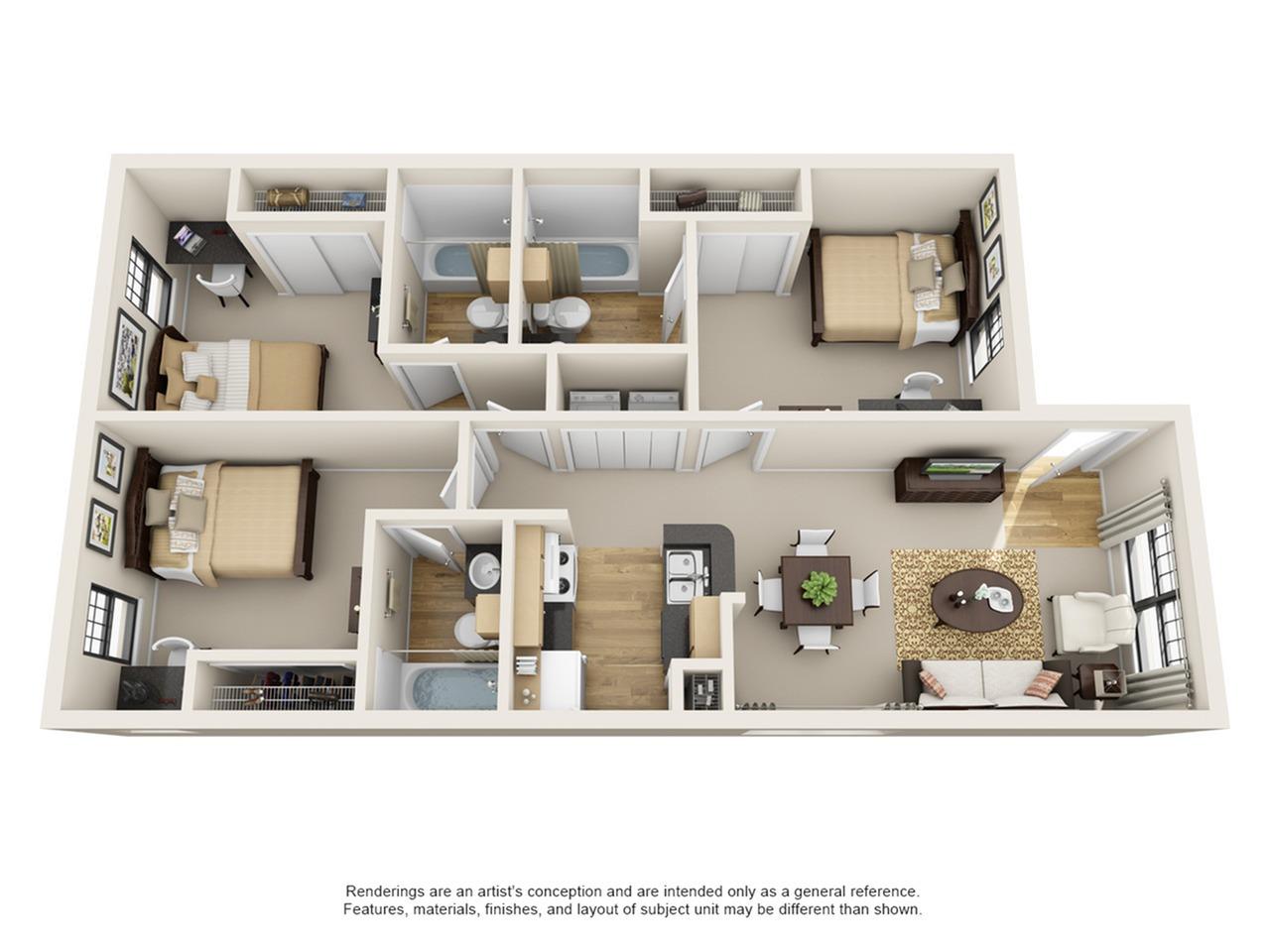 3 bedroom apartment baton rouge