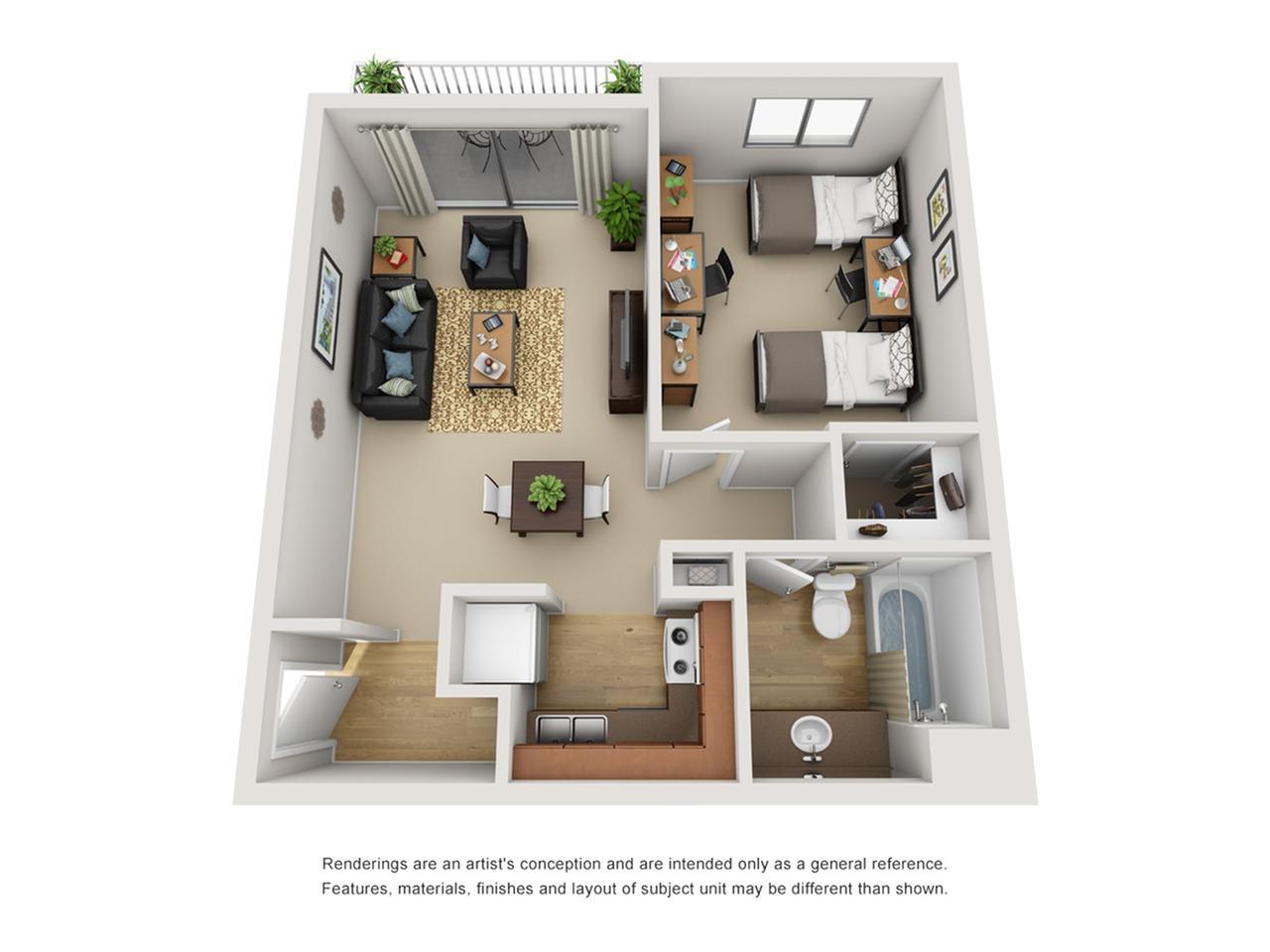 1 bedroom apartment near university of arizona