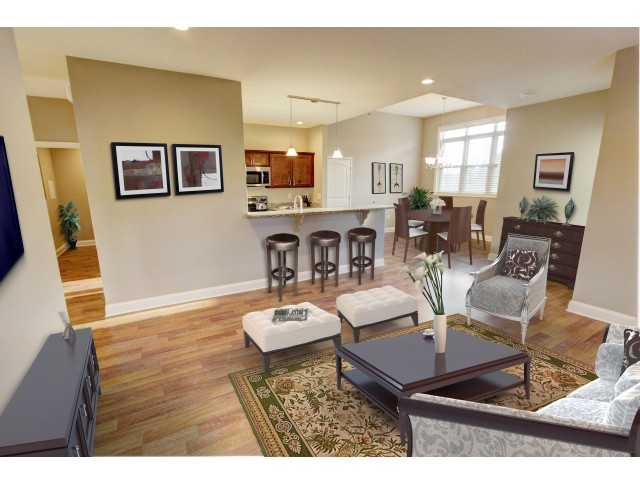 The Alisa and The Sadie floor plans offer a dining area