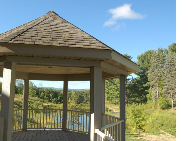 Image of Clubhouse deck with mountain views for Mill Hollow Apartments
