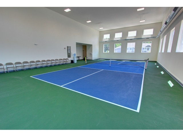 Carlton Hollow Apartments, interior, Pickleball court, natural light