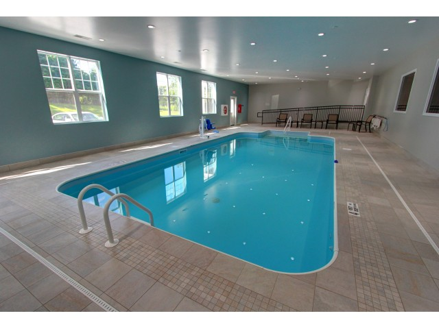 Carlton Hollow Apartments, interior, indoor swimming pool, sparkling blue