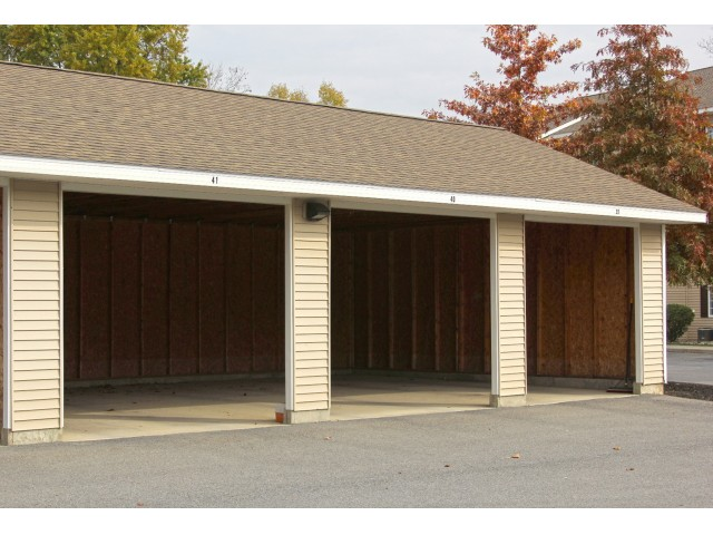 Long Pond Village Apartments, exterior, covered car ports