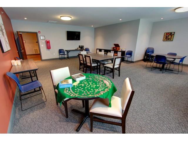 Carlton Hollow Apartments, interior, community room, game room