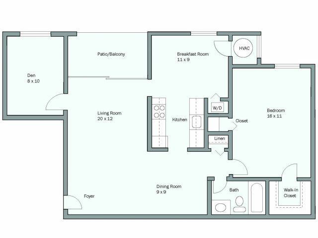1, 2 And 3 Bedroom Apartment Floor Plans In Springfield, VA