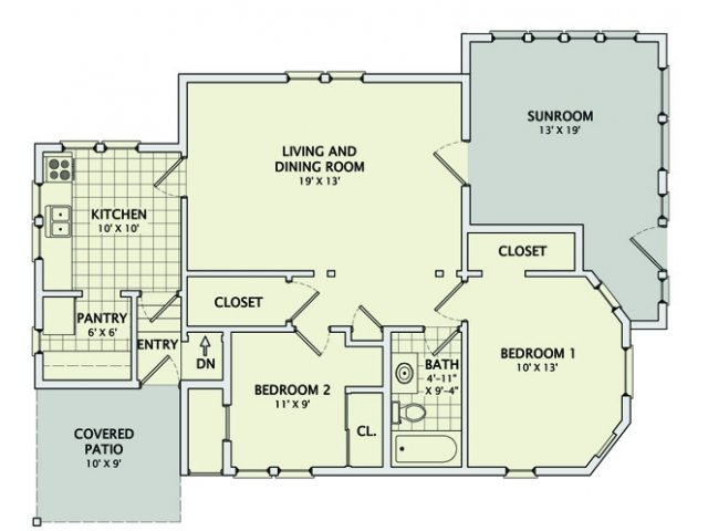 306 Prairie #1 Floorplan
