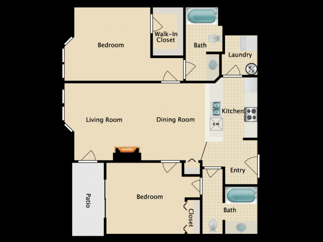 Two Bedroom Two bath A