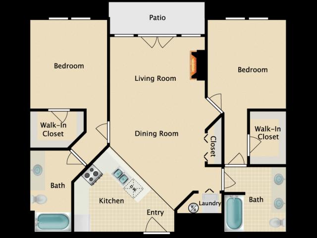 Two Bedroom Two bath B